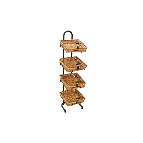 Mobile Merchandisers K1430/4B14 4-Tier Floor Display with Baskets (Basket Floor compare prices)