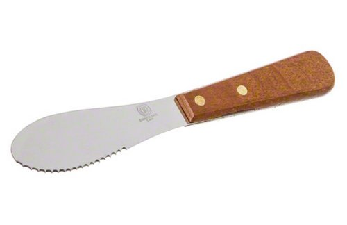 American Metalcraft SPR725 Stainless Steel Sandwich Spreader With Wood Handle, 7-1/2-Inch