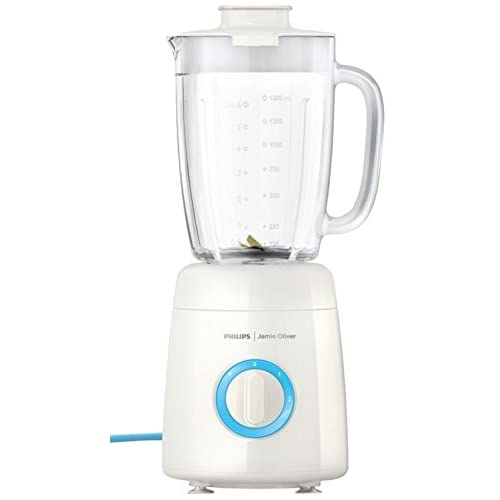 Philips HR2172 01 Jamie Oliver Blender with 2 Litre High Quality Glass Jar - White