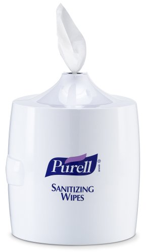 Purell 9019-01 White Sanitizing Wipes Large Wall Dispenser front-678770