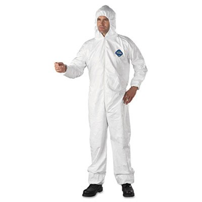E.I. Dupont De Nemours Industrial Use Tyvek� Hooded Coveralls With Elastic Wrists And Ankles. Includes 25 Coveralls. Manufacturer Part Number: Dup Ty127Sxl