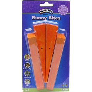 super-pet-bunny-bites-pre-drilled-wood-chew-treats-for-pet-critters-carrot-4-pack