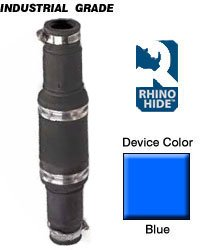 Leviton 49M44-B Rhino-Hide 49 Series Single Pole Male Connector, Industrial Grade, Crimped, 444 MCM Cable, Blue