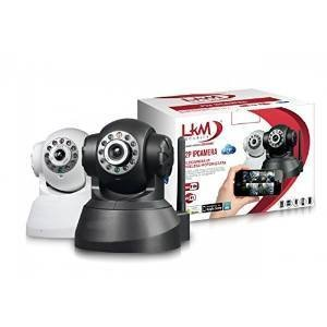LKM Security LKM-IPCINV01BK IP Camera da Interno ed Esterno Wireless, Nero