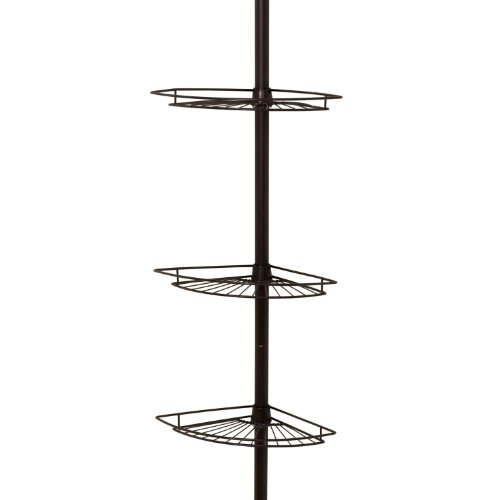 Zenith Products 2113Hb Tub And Shower Tension Pole Caddy, 3 Shelf, Oil Rubbed Bronze front-841819