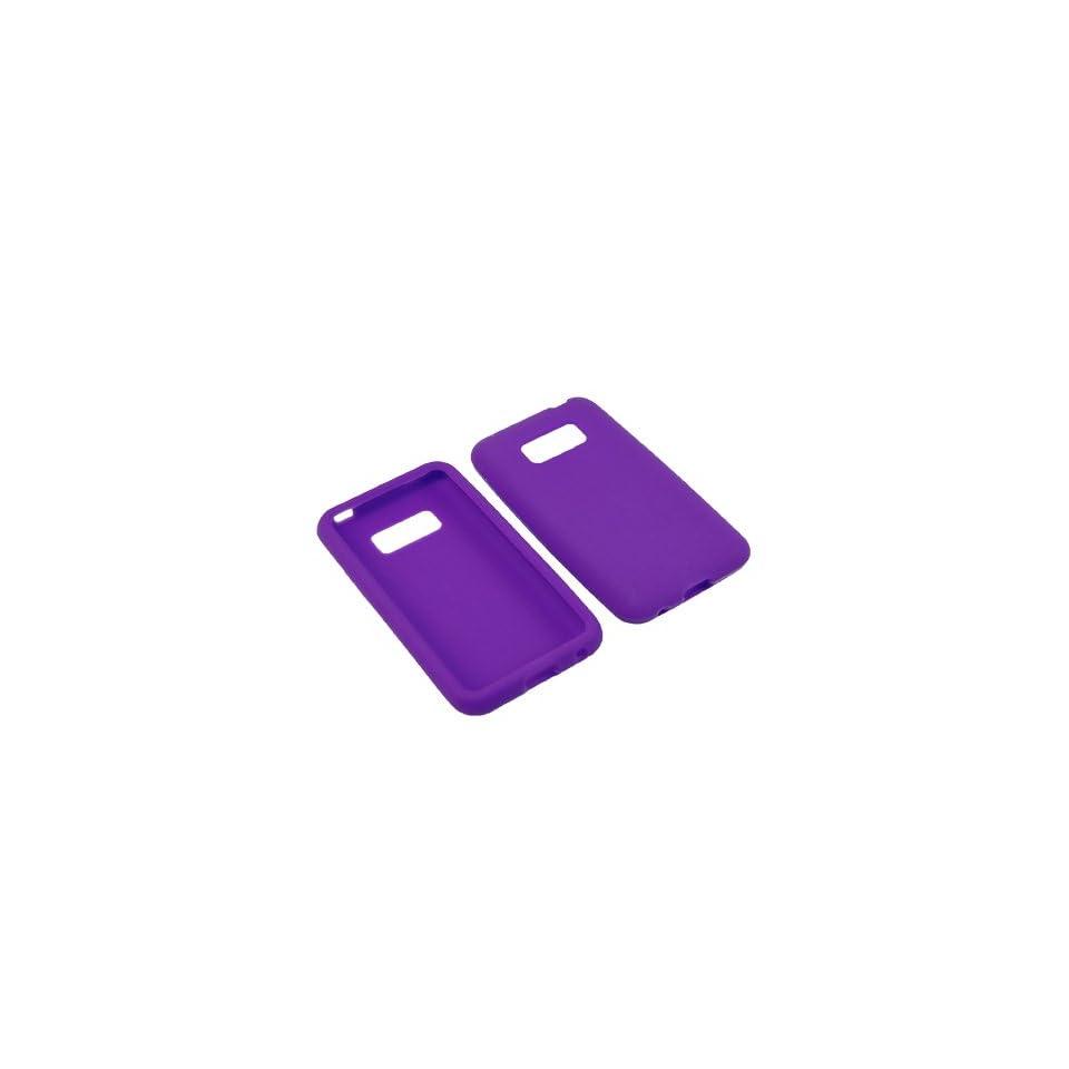 BW Soft Sleeve Gel Cover Skin Case for Virgin Mobile, Sprint LG Optimus Elite LS696  Purple