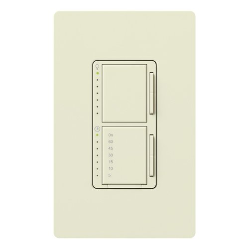 Lutron MA-L3T251-BI Maestro 300 Watt Single Pole Dimmer And Timer Switch, Biscuit