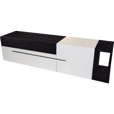 Cheap Jasper 67″ TV Stand in Black Ash and White Lacquer (Jasper TV Stand)