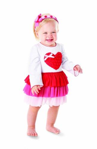 Mud Pie Valentines Day Heart Dress 5T front-532845