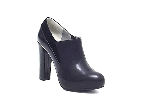 Barachini scarpa donna, 5053, scarpa accollata in pelle ed ecopelle, colore nero
