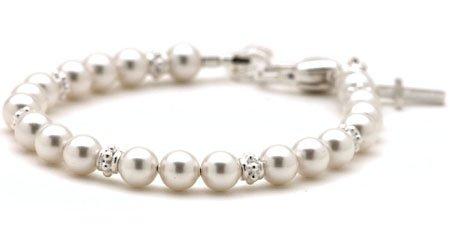 Baby Baptism Pearl Bracelet