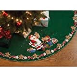 Bucilla(R) 44 Inch Felt Applique Kit - Christmas Cookies Tree Skirt