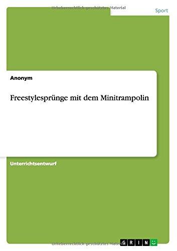 Freestylesprünge mit dem Minitrampolin