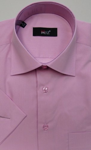 MUGA mens Shortsleeve shirts for Casual and Formal, Mistyrose, Size S