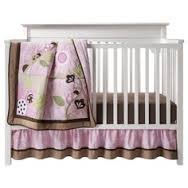 Tiddliwinks Mocha Ladybug 3 Piece Crib Set - Pink/Brown - 1