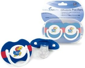 NCAA Kansas Jayhawks 2 Pack Pacifier - 1
