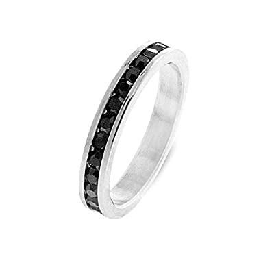 Brand New Channel Set Round Black Diamond Half Eternity Ring,9k White Gold