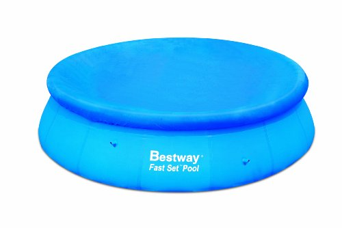 Bestway 15' FAST SET POOL COVER - Piscinas para ni�os, color azul, talla UK: 15 Ft