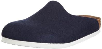 Birkenstock AMSTERDAM WOLLFILZ 559243, Chaussures mixte adulte - Bleu-TR-CT, 36 EU