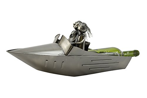 Speed Boat by Wine Bodies, Metal Wine Bottle Holders ZB1090