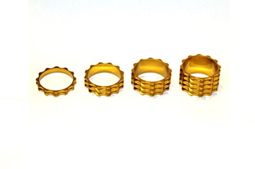 A-Head Vorbau Aluminium Spacer Set 1 1/8 Zoll 5 10 15 20 mm Headset gold