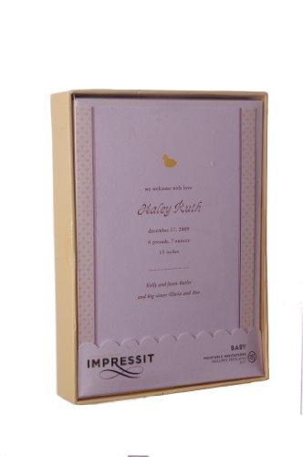 "Impressit 25 Baby Yellow Duck Printable Shower Invitations/Birth Announcements 5"" X 7"""