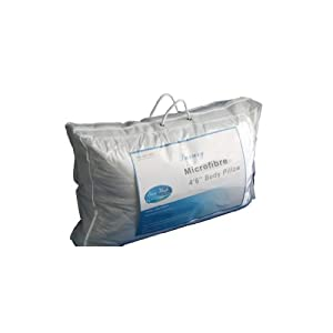 """Homescapes 4'6"""" Full Body / Bolster / Pregnancy / Maternity Pillow Filled with Super Microfibre - Wash at Home Range"""