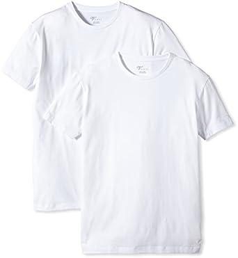 Venti Herren T-Shirt 2 er Pack Slim Fit 001650/001, Gr. 48 (S), Weiß (001 weiß)
