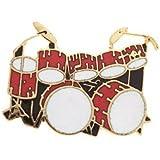 ダブル・ベース・ドラム (ツー・バス ) 赤 ミニピン Double Bass Drum Set Mini Pin