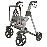 Access Active Designer Deluxe rollator, Ultra-leightweight Walker 4 wheel + FREE ACCESSORIES