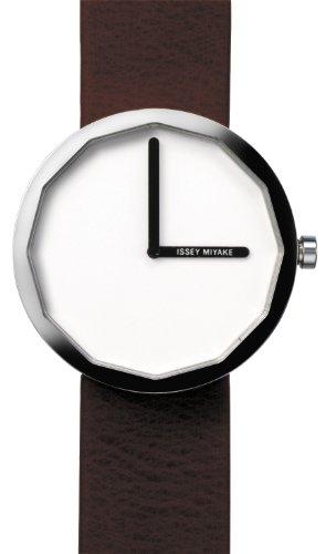 Issey Miyake IM-SILAP016 - Reloj de mujer de cuarzo, correa de piel color marrón