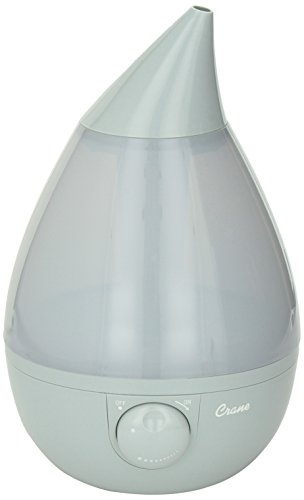 Cheapest Prices! Crane Drop Ultrasonic Cool Mist Humidifier Grey