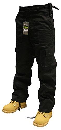 Pantaloni cargo ltext adulto., 66-127 cm, nero/verde/blu/Beige