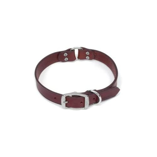 Remington Sporting Dog Center Ring Nylon Safety Collar, Latigo Leather
