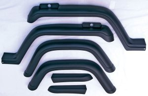 Rugged Ridge 11602.01 Factory Style Fender Flare Kit - 6 Pieces (1994 Jeep Wrangler Fenders compare prices)