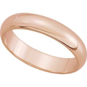 14K White Gold Half Round Wedding Band : 6MM: Size 11