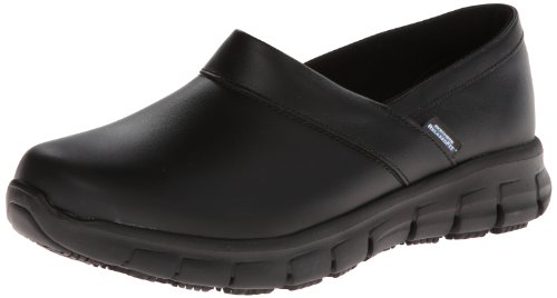 Skechers for Work Women's Relaxed Fit Slip Resistant Work Shoe,Black,7.5 M US (Work Shoes For Women compare prices)