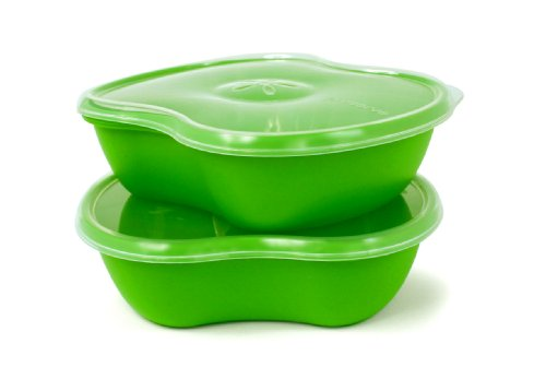 Preserve Square 25-Ounce Food-Storage Container, Set of 2, Apple Green