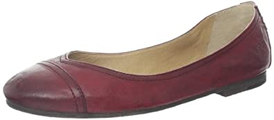 FRYE Women's Carson Cap Toe Ballet Flat,Burnt Red,7.5 M US