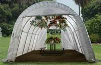 LARGE BACKYARD ROUND GREENHOUSE 12X20X8