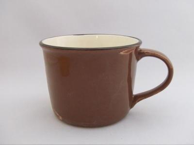 国産品 アンティーク調 ホーロー風 マグカップ ブラウン 美濃焼き 300cc 電子レンジ・食洗機 可