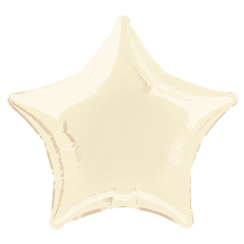 "20"" Foil Ivory Star Balloon"