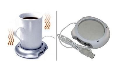 Check Out This Trecks® USB 2.0 Powered Coffee Tea Beverage Mug Cup Warmer Heater + 4 Port USB Hub