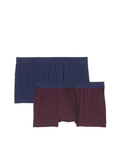 s.Oliver 2tlg. Set Boxershorts blu/rosso