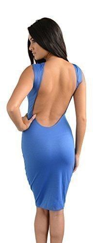 Glamzam Juliette Kleid rückenfrei blaub