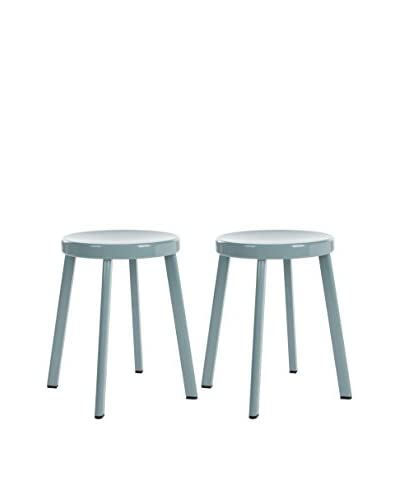 Safavieh Set of 2 Erica Stools, Grey