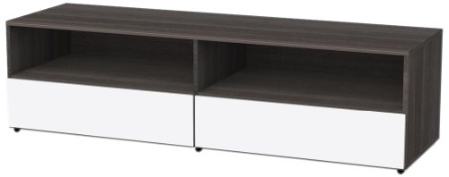 Nexera 220133 Allure 60-Inch TV Stand, Ebony and White picture B0062O1JIA.jpg
