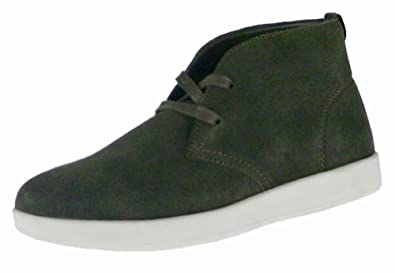 Cadillac Footwear Gareth Mens Suede Lace-up Shoes (7.5, Olive/Bone)