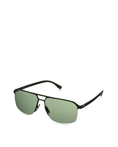 BOSS MATT BLACK WITH GREY GREEN LENS