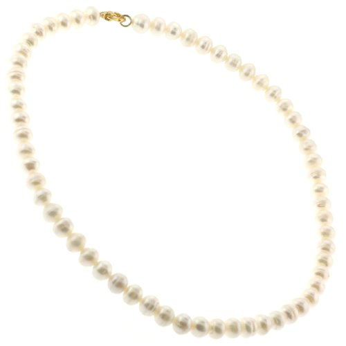 Freshwater White Pearl Necklace - 8mm, 16
